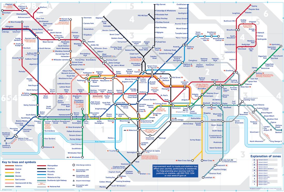 Схема транспорта лондона