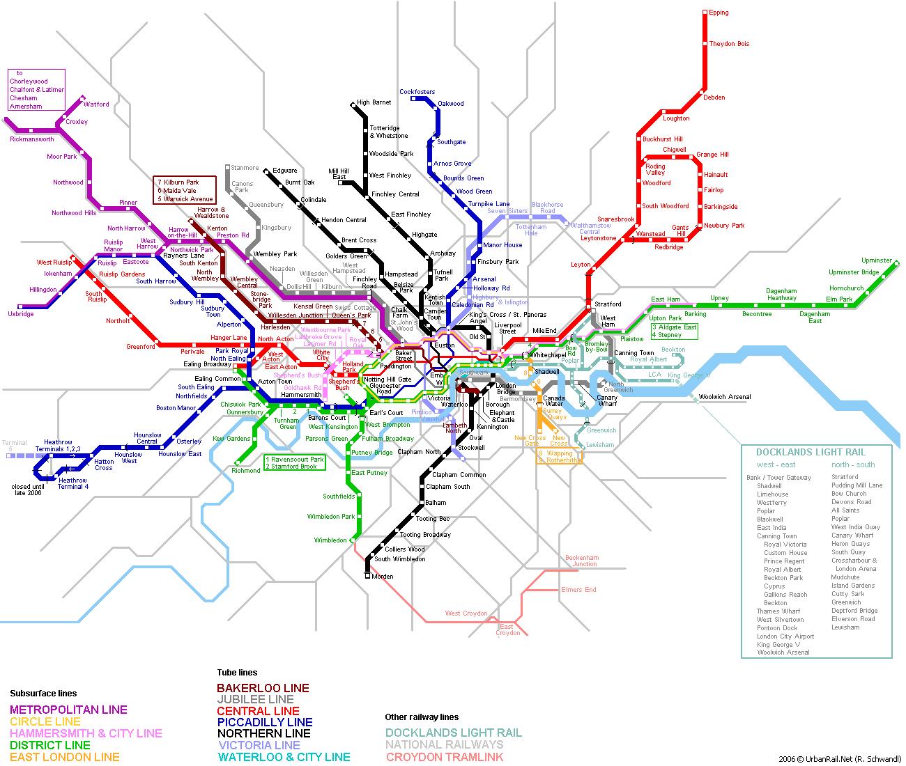 Схеме метро в лондоне