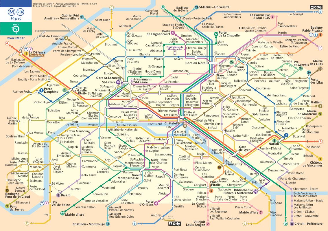 метро парижа фото
