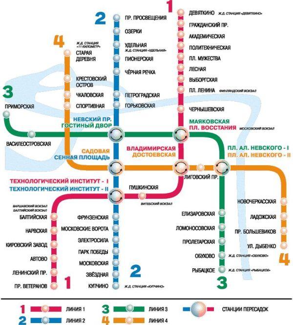 Если в 1955 году схема метро